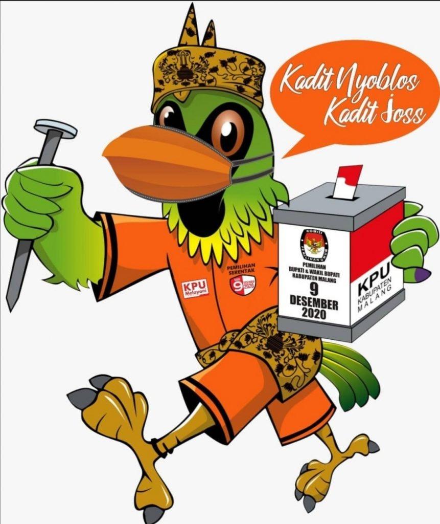 Burung Cucak Hijau, Jadi Maskot Pemilihan Bupati dan Wakil Bupati Malang Tahun 2020